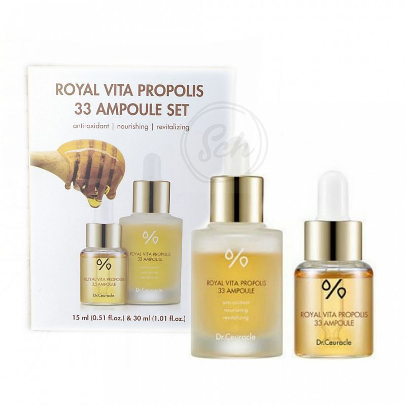 DR. CEURACLE Royal Vita Propolis 33 Ampoule SET (30ml + 15ml)