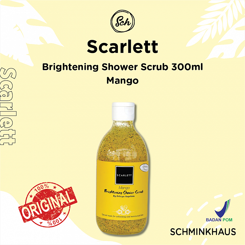 [BPOM] SCARLETT Brightening Shower Scrub 300ml #Mango